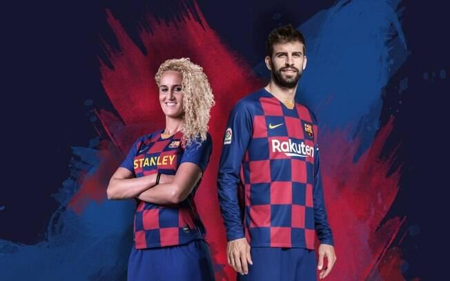 Novo uniforme do Barcelona terá pela primeira vez uma camisa xadrez