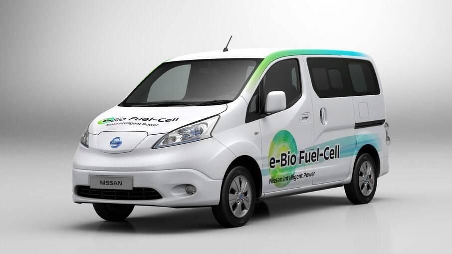 Nissan e-Bio Fuel Cell conta com célula de combustível por etanol que o converte em hidrogênio.