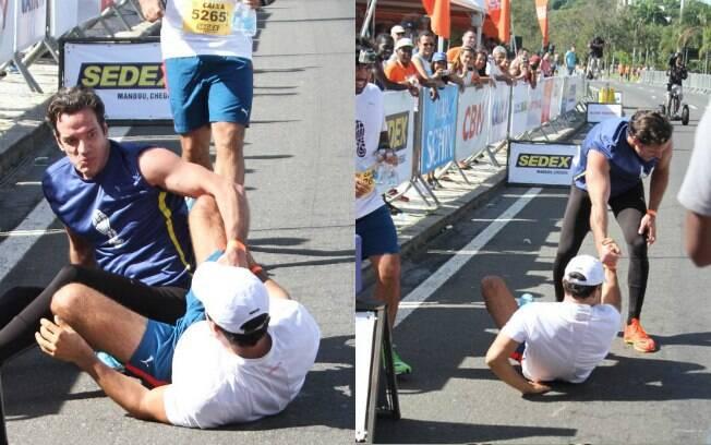 Carlos Machado e Anderson Di Rizzi levam tombo durante corrida