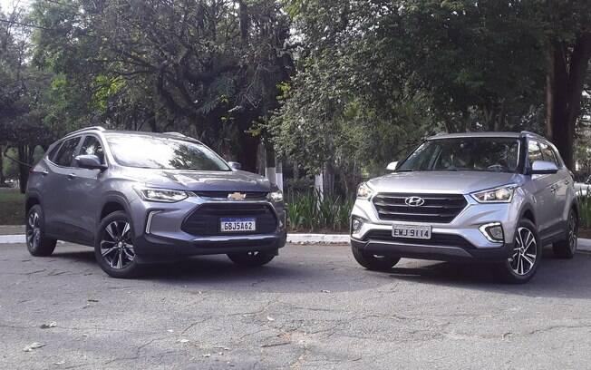 Chevrolet Tracker e Hyundai Creta: nova geração do SUV da GM de mostra mais eficiente que o rival, que logo vai mudar