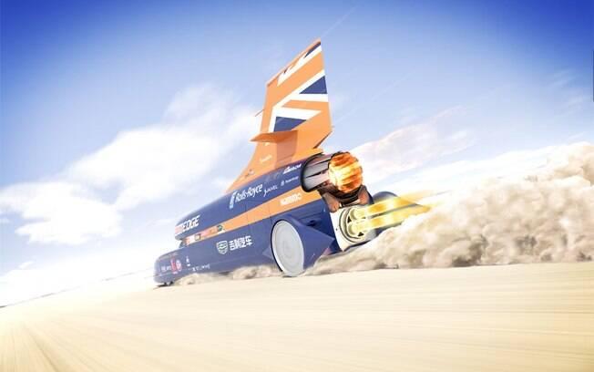 Bloodhound SSC conta com turbina de avião da Rolls-Royce e tem nada menos que 135 mil hp de potência máxima