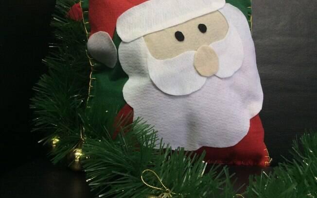 Almofada de Natal: finalize a costura