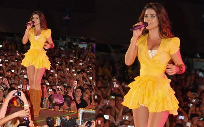 Paula Fernandes se apresentou no festival nesse domingo (25)