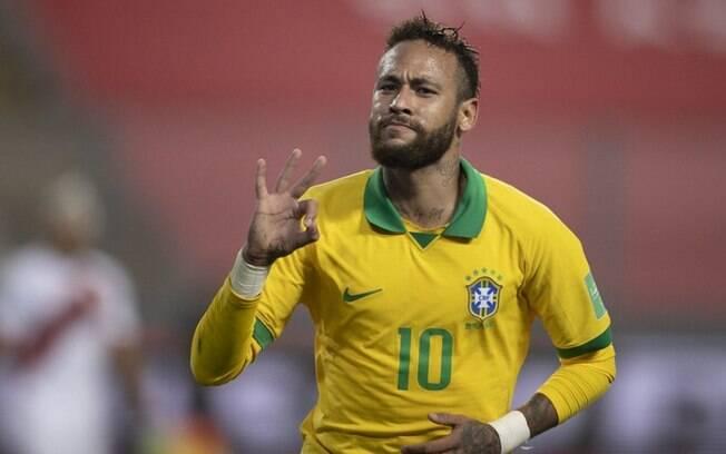 Neymar entra na lista dos dez maiores artilheiros do Brasil na história das Eliminatórias