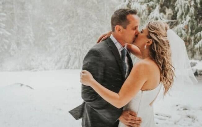 Sean e Brittany planejaram o casamento perfeito para um dia ensolarado