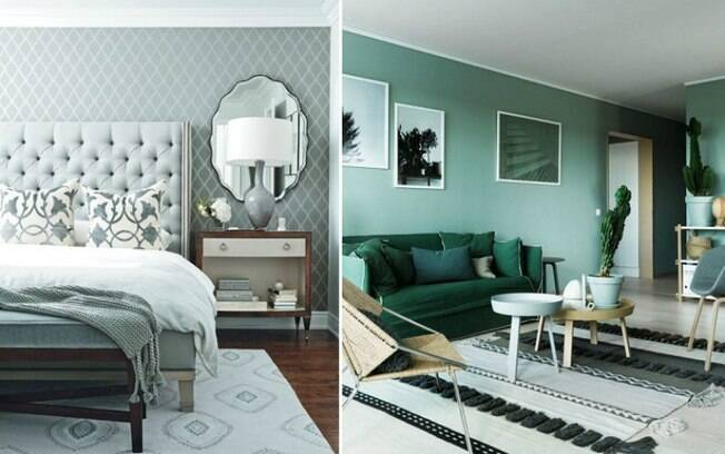 A decoração monocromática é algo que também está em alta, com aumento de 115% a cada ano