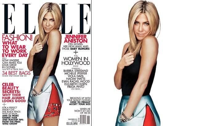 Jennifer Aniston na capa da Elle