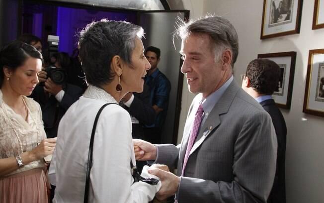 Cássia Kiss Magro e o empresário Eike Batista