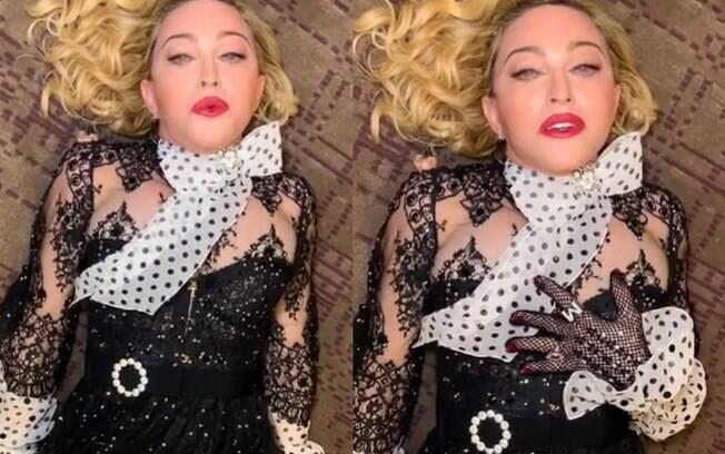 Madonna gravou vídeo deitada no chão