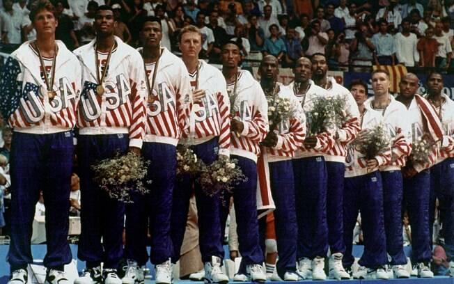 O mítico Dream Team dos Estados Unidos. A NBA chegava às Olimpíadas