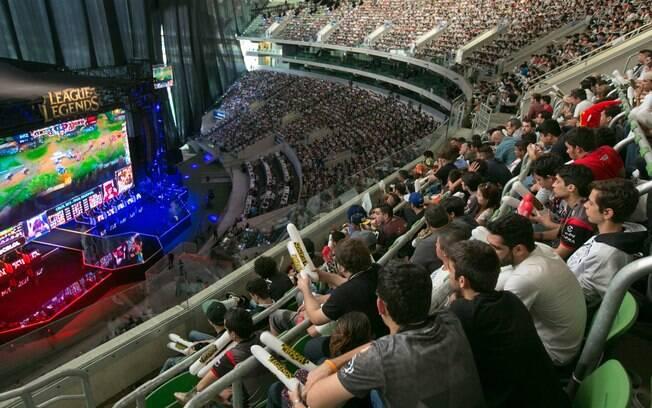 Em 2015, a final do Campeonato Brasileiro de LoL aconteceu no estádio do Palmeiras