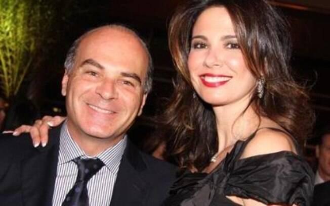 Luciana Gimenez e o ex-marido, Marcelo Carvalho