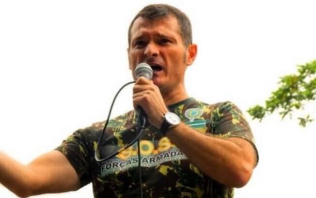 O líder do SOS Forças Armadas, Renato Tamaio: ele faz campanha em prol do golpe militar