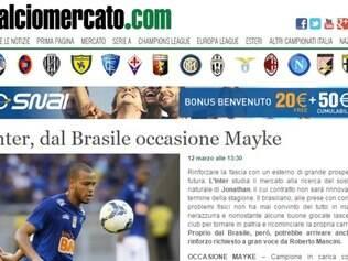 Mayke é alvo de especulações na Itália italiano
