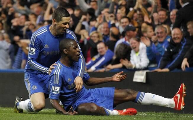 Ramires marcou o segundo gol do Chelsea no empate em 2 a 2 com o Tottenham 2a0b2357f61eb