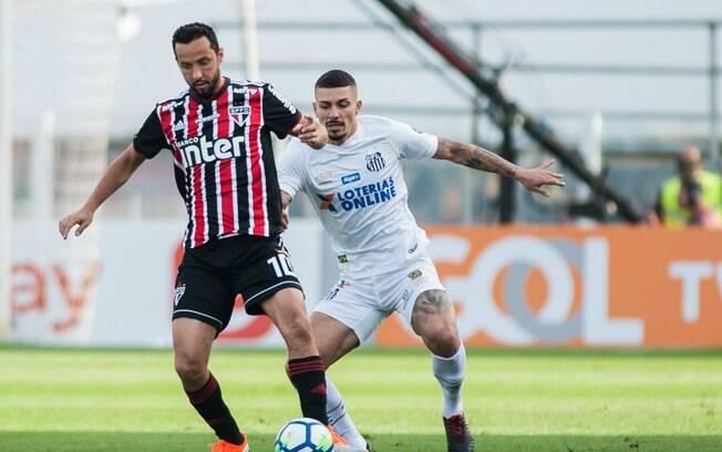 Santos e São Paulo ficaram no empate por 0 a 0 na Vila Belmiro