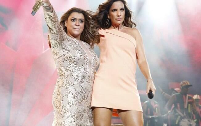 Preta Gil grava DVD com Ivete Sangalo