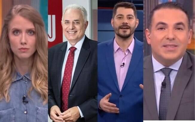 Ganriela Prioli, William Waack, Evaristo Costa e Reinaldo Gottino