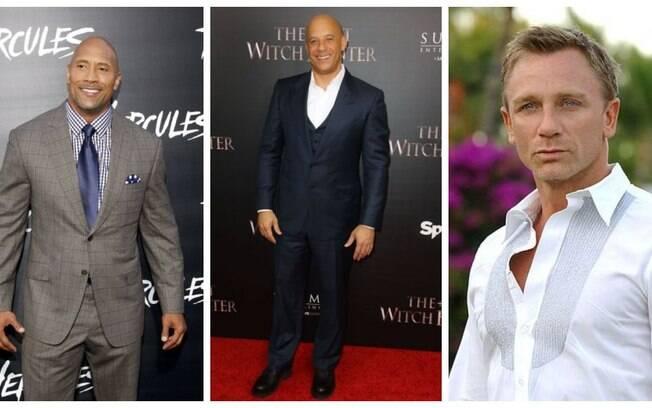 Salários de atores e atrizes caem em Hollywood, mas Daniel Craig, Dwayne Johnson e Vin Diesel ainda são os mais bem pagos