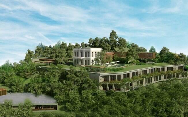 O novo hotel boutique de Santa Tereza, no Rio de Janeiro, está sendo construído em uma área de 12600 m². O projeto conta com áreas sociais, 13 suítes e um spa