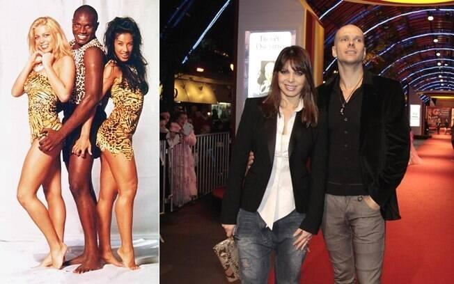 Loiríssima no começo da carreira, ela posa ao lado dos dançarinos Jacaré e Scheila Carvalho; e recentemente com o marido Fernando Scherer