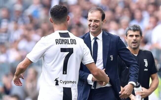 Técnico da Juventus defendeu Cristiano Ronaldo contra acusação de estupro