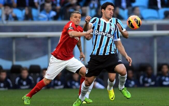 Grêmio e Internacional empataram por 1 a 1 na  Arena do time tricolor