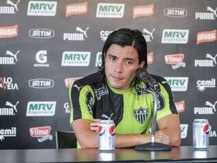 Jogador colombiano comemora treinos