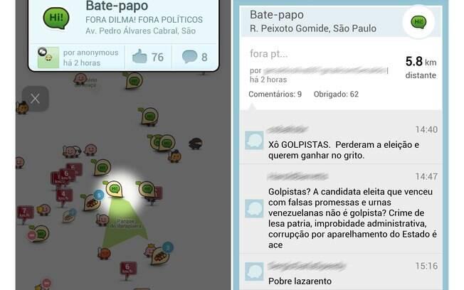 Usuários do Waze estão utilizando o aplicativo para manifestar suas opiniões políticas com a proximidade dos protestos contrários ao governo do dia 15 de março