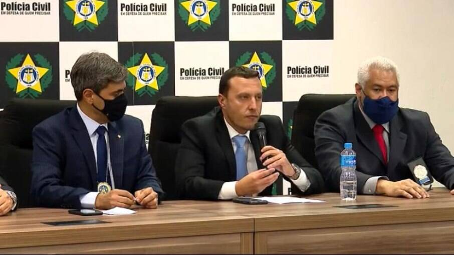 Coletiva de imprensa da Polícia Civil para falar sobre caso do menino Henry Borel, morto com quatro anos