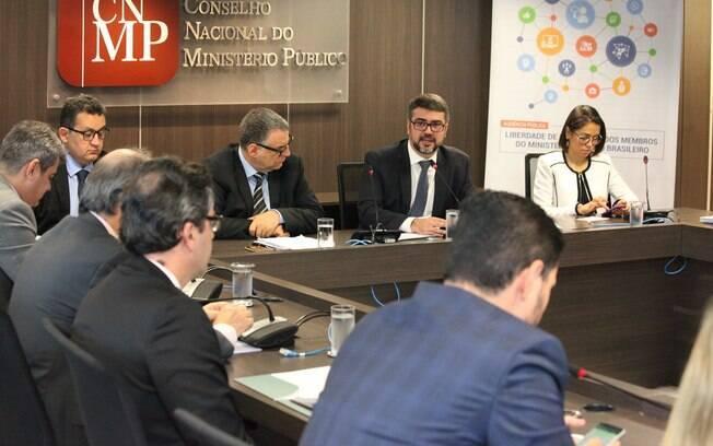 Reunião do Conselho Nacional do Ministério Público; grupo de conselheiros foi invadido por hacker