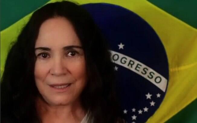 Regina Duarte posta mensagem enigmática sobre os protestos nas eleições 2018