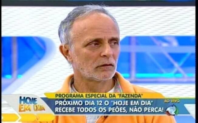 Rui Neves, o pai de Joana Machado, durante participação no 'Hoje em Dia'