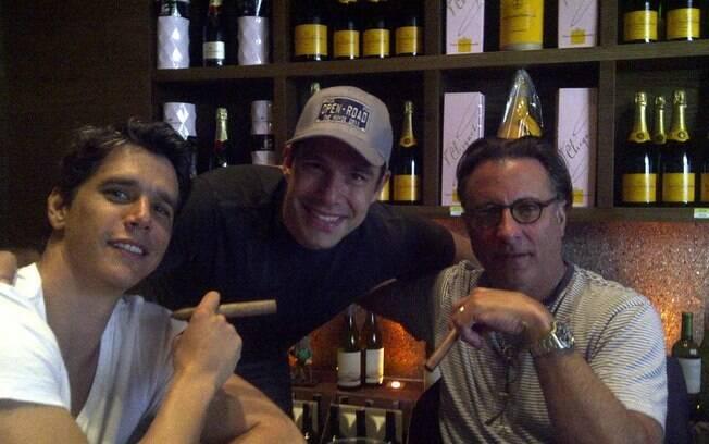 Marcio Garica, Marcus Buaiz e Andy Garcia estão em Vitória para gravação de longa