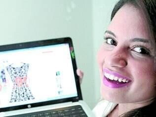 Estratégia. Ana Carolina Gomes divide as compras nos sites para não correr risco de pagar imposto