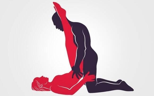 Com as pernas esticadas, a penetração é profunda e é mais fácil atingir as zonas erógenas da vagina