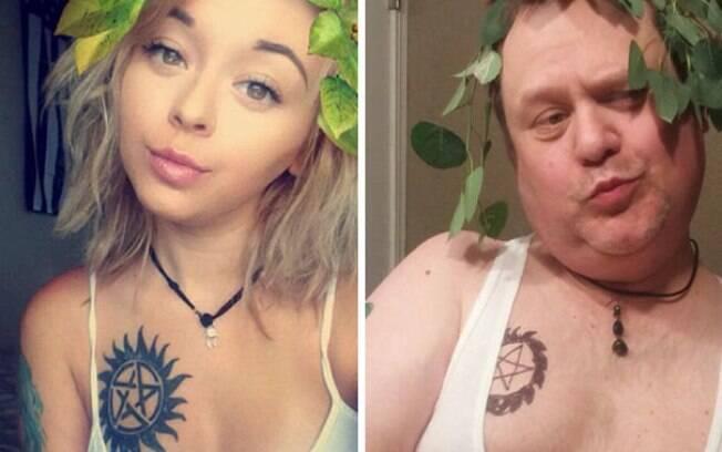 Pai recria selfies sensuais da filha