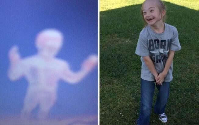O garoto Aasher Liles estava viajando de avião quando tirou uma foto do anjo da guarda