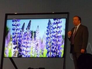 Nova TV Ultra HD da Samsung também foi um dos destaques da coletiva de imprensa nesta segunda-feira (7)