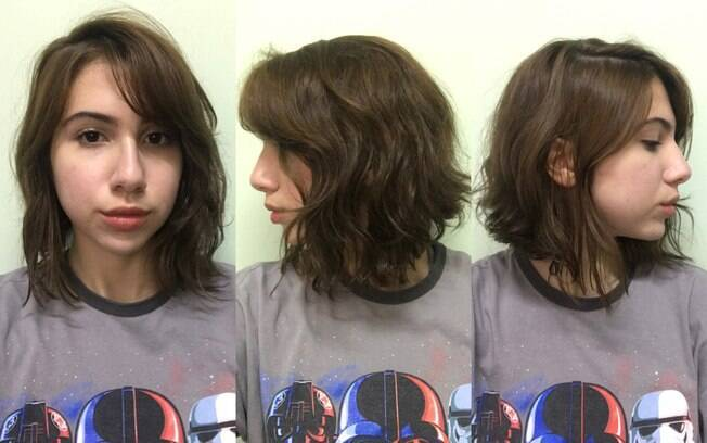 Meu cabelo estava assim, há aproximadamente 5 meses sem corte