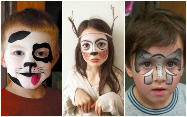 Maquiagem para crianças: fazer pinturas de animais ou de elementos que lembram bichinhos e uma ideia para o carnaval