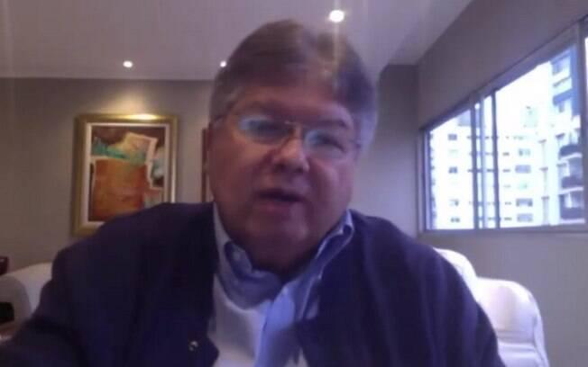 Secretário de Saneamento Pedro Maranhão durante entrevista ao portal iG