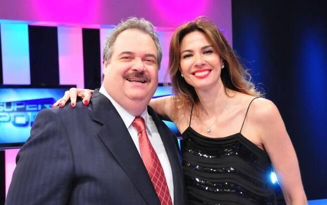 Gilberto Barros foi um dos convidados do programa 'Superpop' apresentado por Luciana Gimenez, sua colega de emissora
