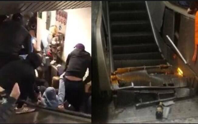 O incidente nas escadas rolantes do metrô de Roma deixou 10 pessoas gravemente feridas