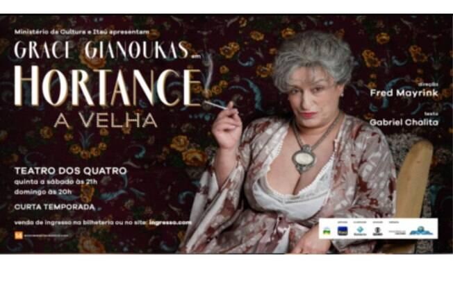 Hortance, A Velha estreia no sábado, 12 de janeiro, no Rio de Janeiro