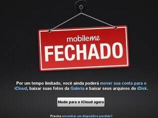 MobileMe foi substituído pelo iCloud