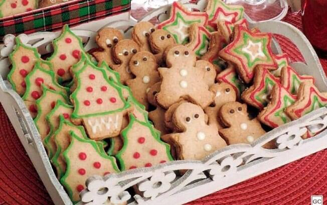 Biscoitos decorados de Natal para provar e aprovar