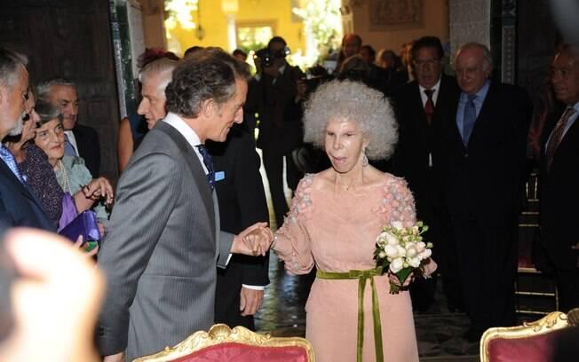 Duquesa de Alba e o noivo Alfonso Díez Carabantes