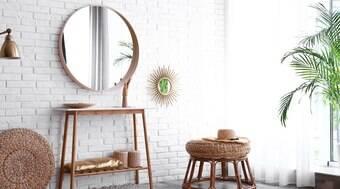 Espelho valoriza decoração do hall e das salas de estar e jantar