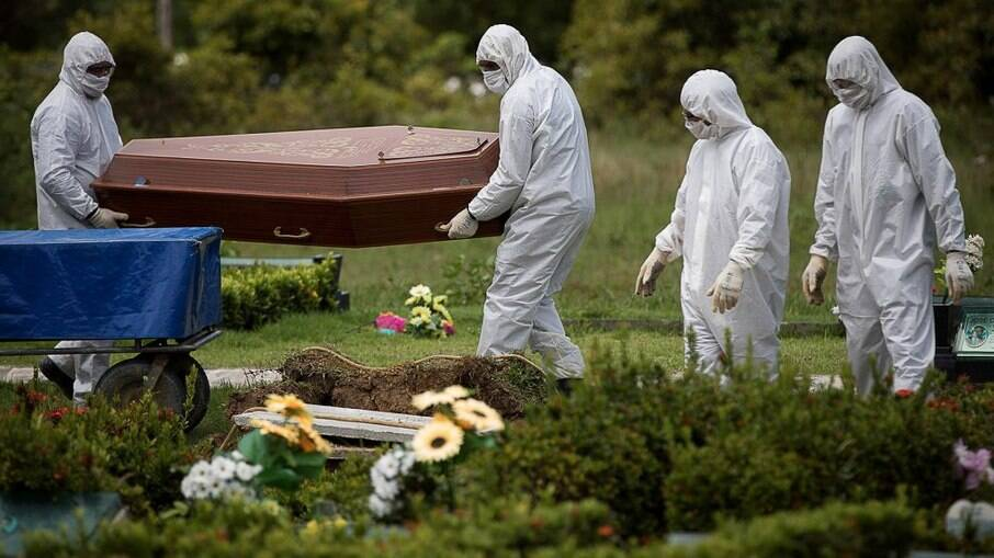 País atingiu a marca de ... mil mortes por Covid-19